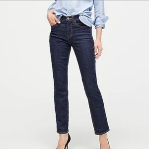 "J. Crew 9"" Vintage Straight Jeans Dark Size 26P"